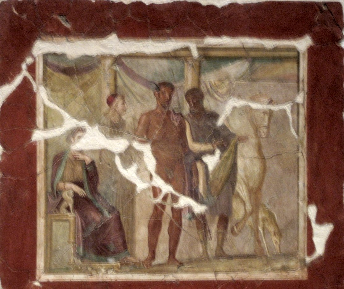 Hippolytus_and_Phaedra,_fresco_from_Pompeii